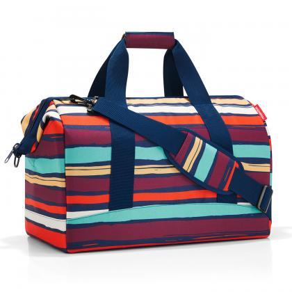Reisenthel Allrounder L Artis Stripes Sötét kék Női Utazótáska