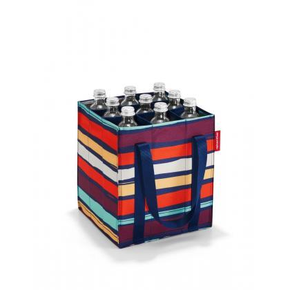 Reisenthel Bottlebag Artist Stripes Kék Csíkos Üvegtartó Táska