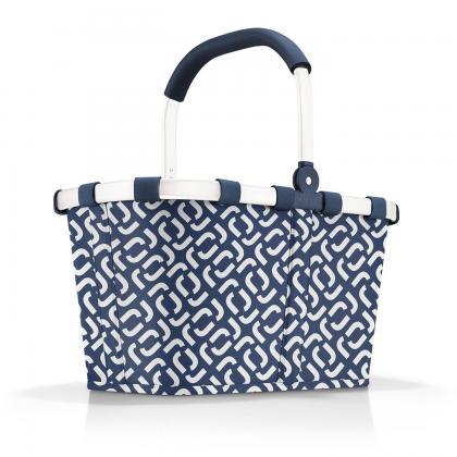 Reisenthel Carrybag Signature Navy Kék-Fehér Bevásárlókosár