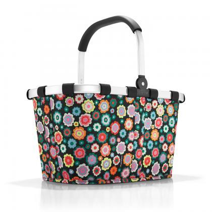 Reisenthel Carrybag Happy Flowers Fekete-virágos Női Bevásárlókosár