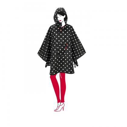 Reisenthel Mini Maxi Fekete-Fehér Pöttyös Női Esőkabát