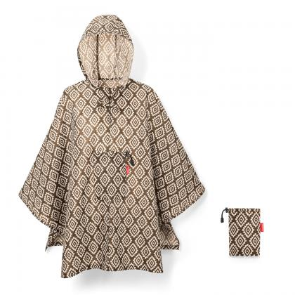 Reisenthel Mini Maxi Poncho Diamonds Mocha Barna Esőkabát