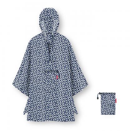 Reisenthel Mini Maxi Poncho Signature Navy Kék Esőkabát