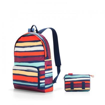 Reisenthel Mini Maxi Rucksack Artis stripes Sötétkék Női Hátizsák