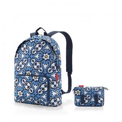 Reisenthel Mini Maxi Rucksack Floral 1 Kék Női Hátizsák
