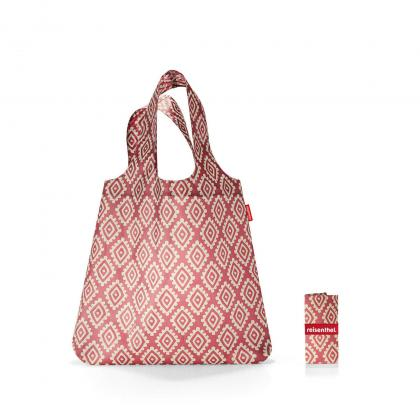 Reisenthel Mini Maxi Shopper Diamonds Rouge Bordó Bevásárlótáska