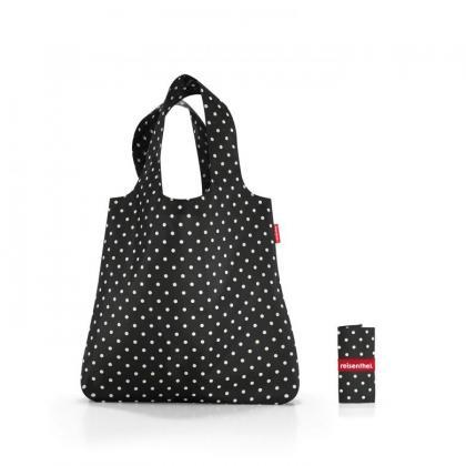 Reisenthel Mini Maxi Shopper Fekete-Fehér Pöttyös Bevásárlótáska