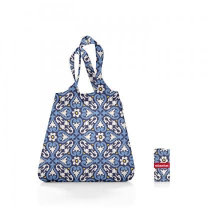Reisenthel Mini Maxi Shopper Floral 1 Kék Bevásárlótáska