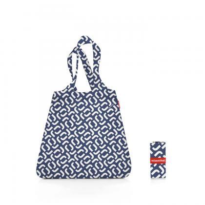 Reisenthel Mini Maxi Shopper Signature Navy Kék-Fehér Bevásárlótáska