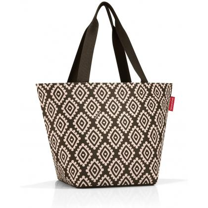 Reisenthel Shopper M Diamonds Mocha Barna Női Válltáska