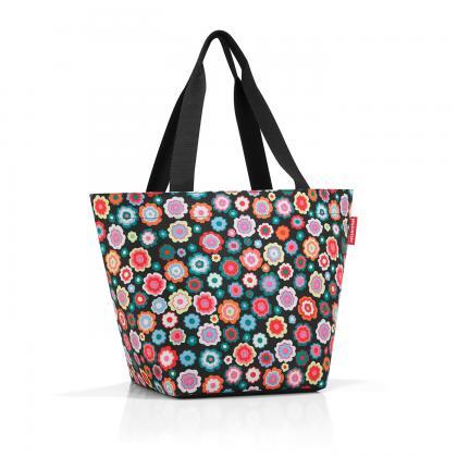 Reisenthel Shopper M Happy Flowers Fekete-virágos Női Válltáska