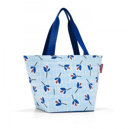 Reisenthel Shopper M Leaves Blue Világos kék Női Bevásárlótáska