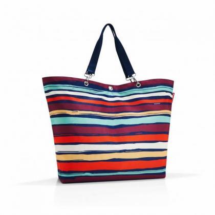 Reisenthel Shopper XL artist stripes Sötét kék Női Bevásárlótáska