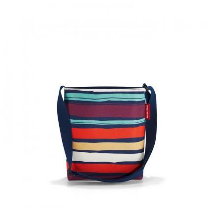 Reisenthel Shoulderbag S Artist Stripes Sötét kék Női Oldaltáska