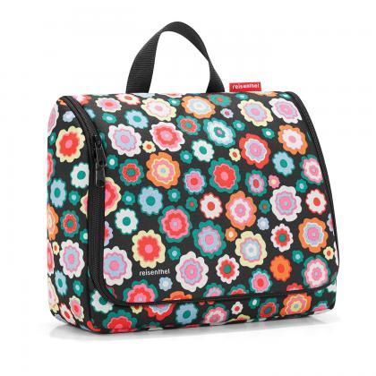 Reisenthel Toiletbag XL Happy Flowers Fekete-virágos Női Neszesszer