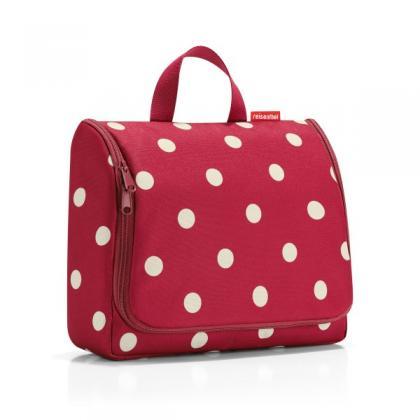 Reisenthel Toiletbag XL ruby dots pöttyös Piros Női Neszesszer
