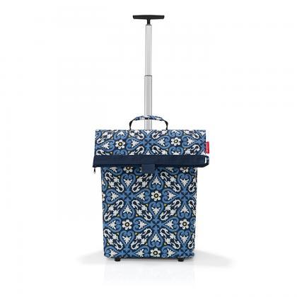 Reisenthel Trolley M Floral Kék Bevásárlókocsi