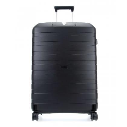 Roncato Box 2.0 Trolley L Fekete Unisex Keményfedeles bőrönd