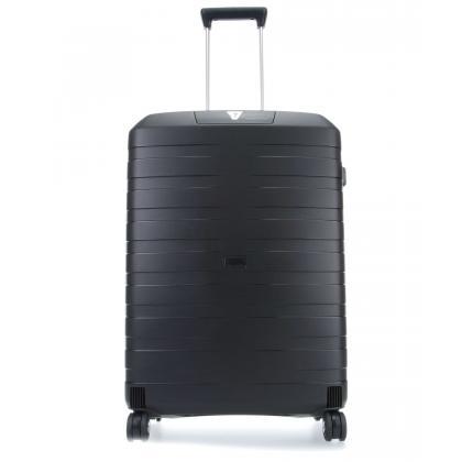 Roncato Box 2.0 Trolley M Fekete Unisex Keményfedeles bőrönd