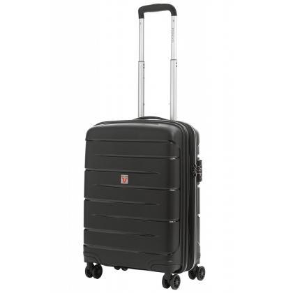 Roncato Flight DLX Bővíthető Fekete Kabinbőrönd
