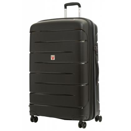 Roncato Flight DLX Bővíthető Fekete L Keményfedeles bőrönd