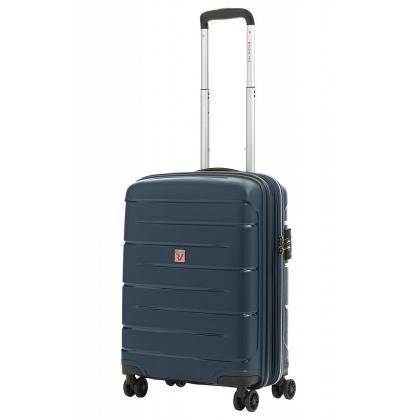Roncato Flight DLX Bővíthető Kék Kabinbőrönd
