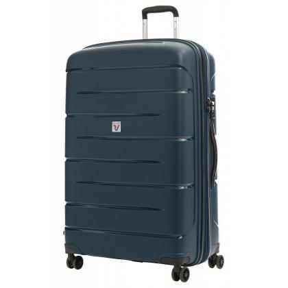 Roncato Flight DLX Bővíthető Kék L Keményfedeles bőrönd