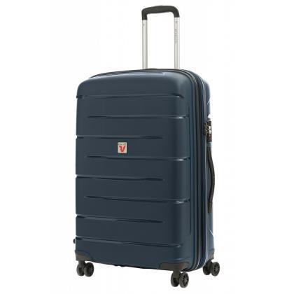 Roncato Flight DLX Bővíthető Kék M Keményfedeles bőrönd