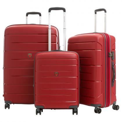Roncato Flight DLX Bővíthető Piros Bőrönd Szett