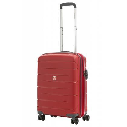 Roncato Flight DLX Bővíthető Piros Kabinbőrönd