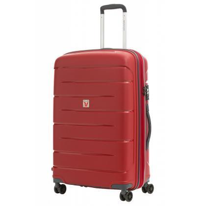 Roncato Flight DLX Bővíthető Piros M Keményfedeles bőrönd