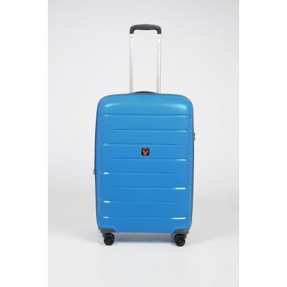 Roncato Flight DLX Bővíthető Világos kék Kabinbőrönd