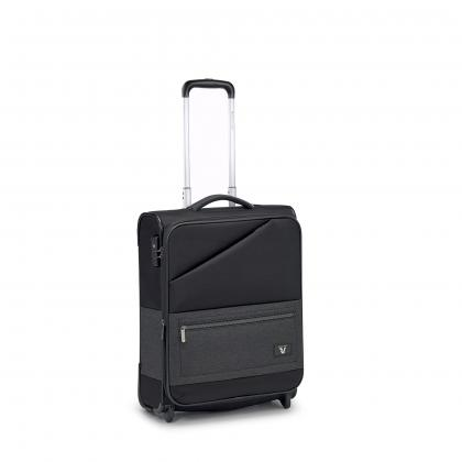 Roncato Hyper Fekete Kabinbőrönd