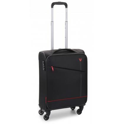 Roncato Jazz 4 Kerekű Bővíthető Fekete Kabinbőrönd