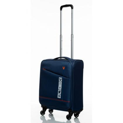 Roncato Jazz 4 Kerekű Bővíthető Kék Kabinbőrönd
