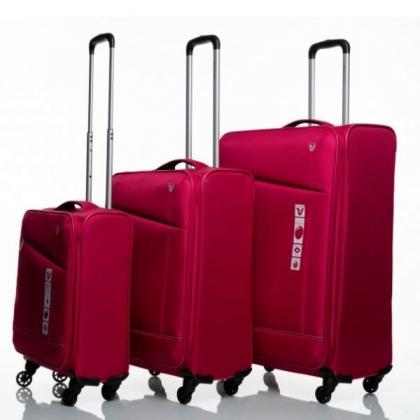Roncato Jazz 4 Kerekű Bővíthető Pink Bőrönd Szett