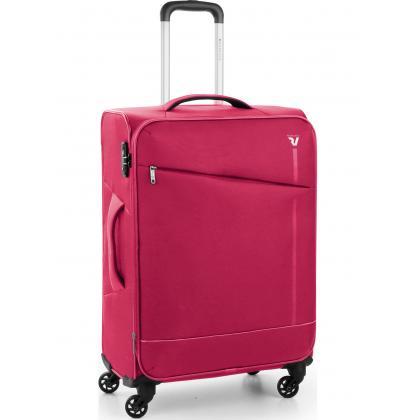 Roncato Jazz 4 Kerekű Bővíthető Pink Közepes Bőrönd