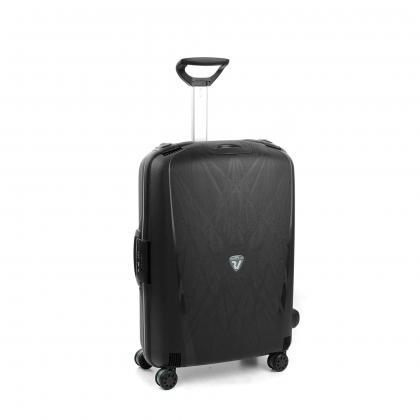 Roncato Light Fekete Közepes Bőrönd