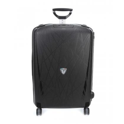 Roncato Light M Fekete Unisex Keményfedeles bőrönd