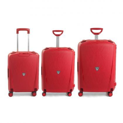 Roncato Light Piros 3 Darabos Bőrönd Szett