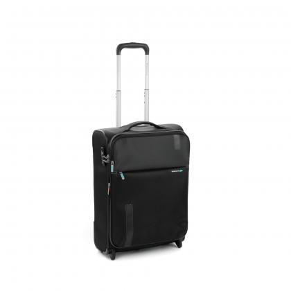 Roncato Speed 55 cm Fekete Bővithető Kabinbőrönd