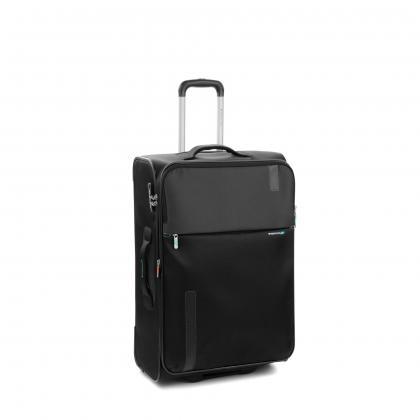 Roncato Speed 67 cm Fekete Bővíthető Bőrönd