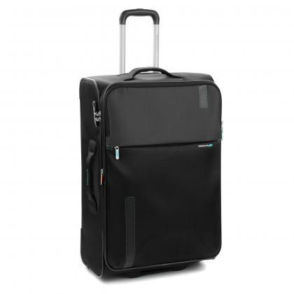 Roncato Speed 78 cm Fekete Bővithető Bőrönd