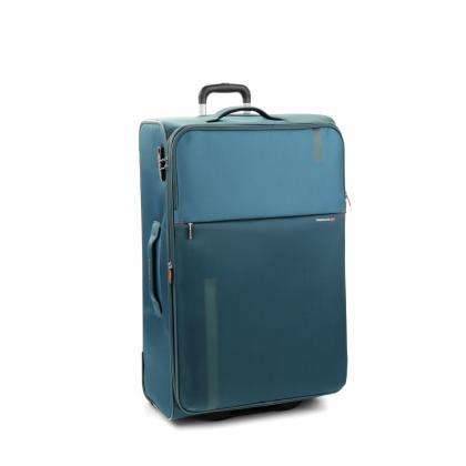 Roncato Speed 78 cm Sötét kék Bővíthető Bőrönd