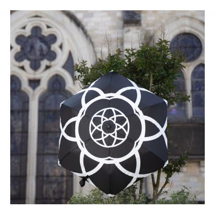 Smati Flower Fekete - Fehér Autómata Esernyő
