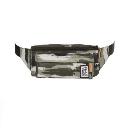 The Pack Society Bum Bag Green Camo Allover Terepmintás Unisex Övtáska