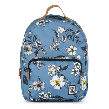 The Pack Society Classic Backpack Blue flower Világos kék Hátizsák