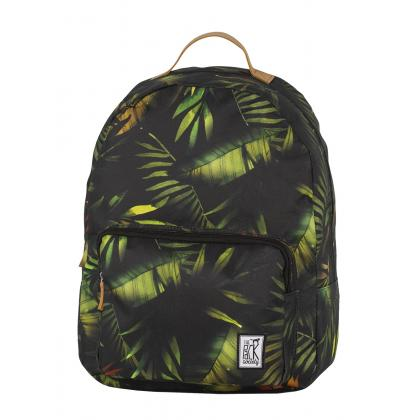 The Pack Society Classic Backpack Green leaves Zöld Hátizsák