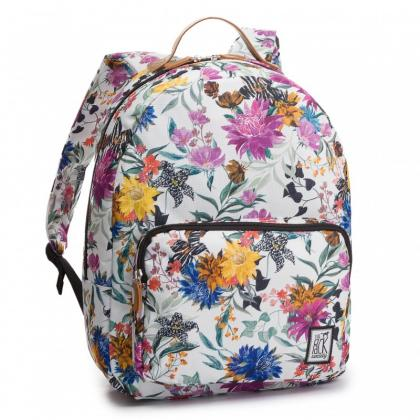 The Pack Society Classic Backpack Multicolor Flower Allover Fehér Unisex Hátizsák