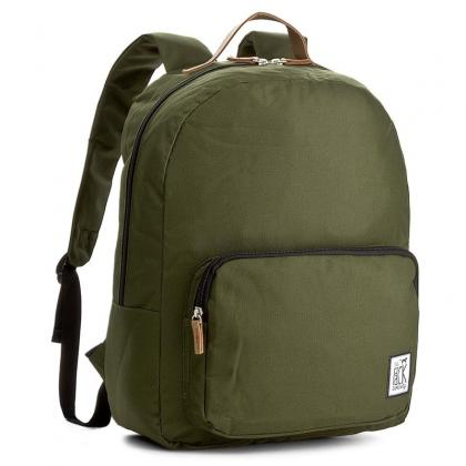 The Pack Society Classic Backpack Solid Forest Green Keki Unisex Hátizsák